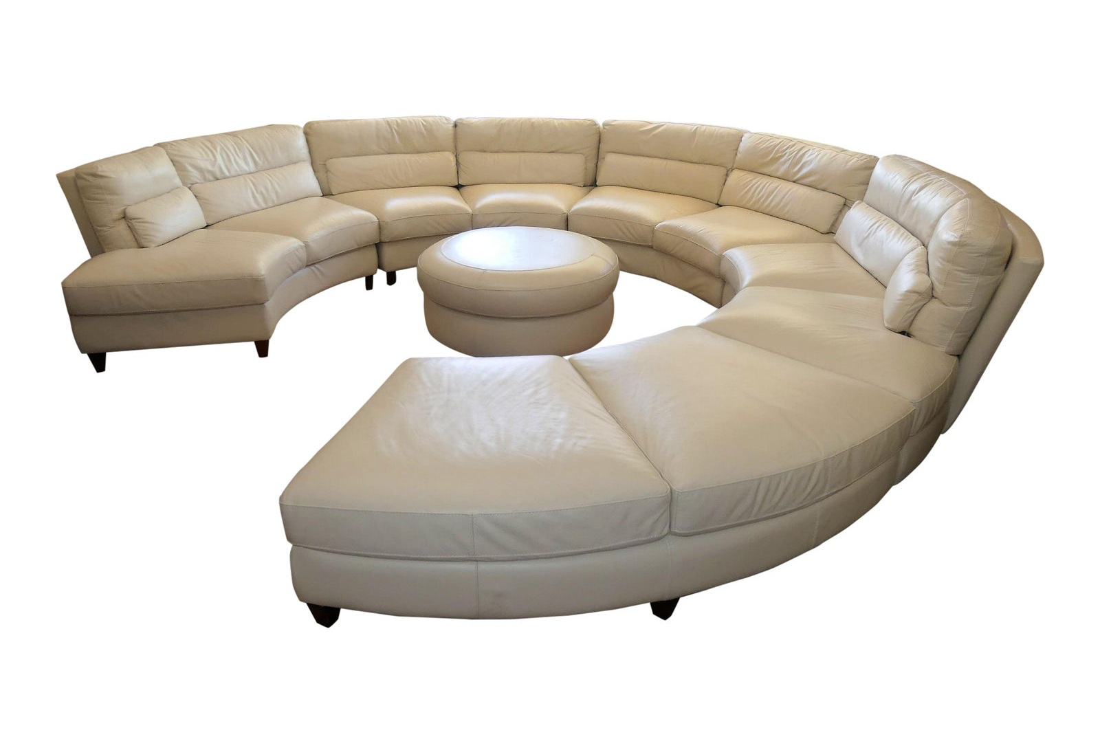 Chateau d'Ax Italian Leather Sectional