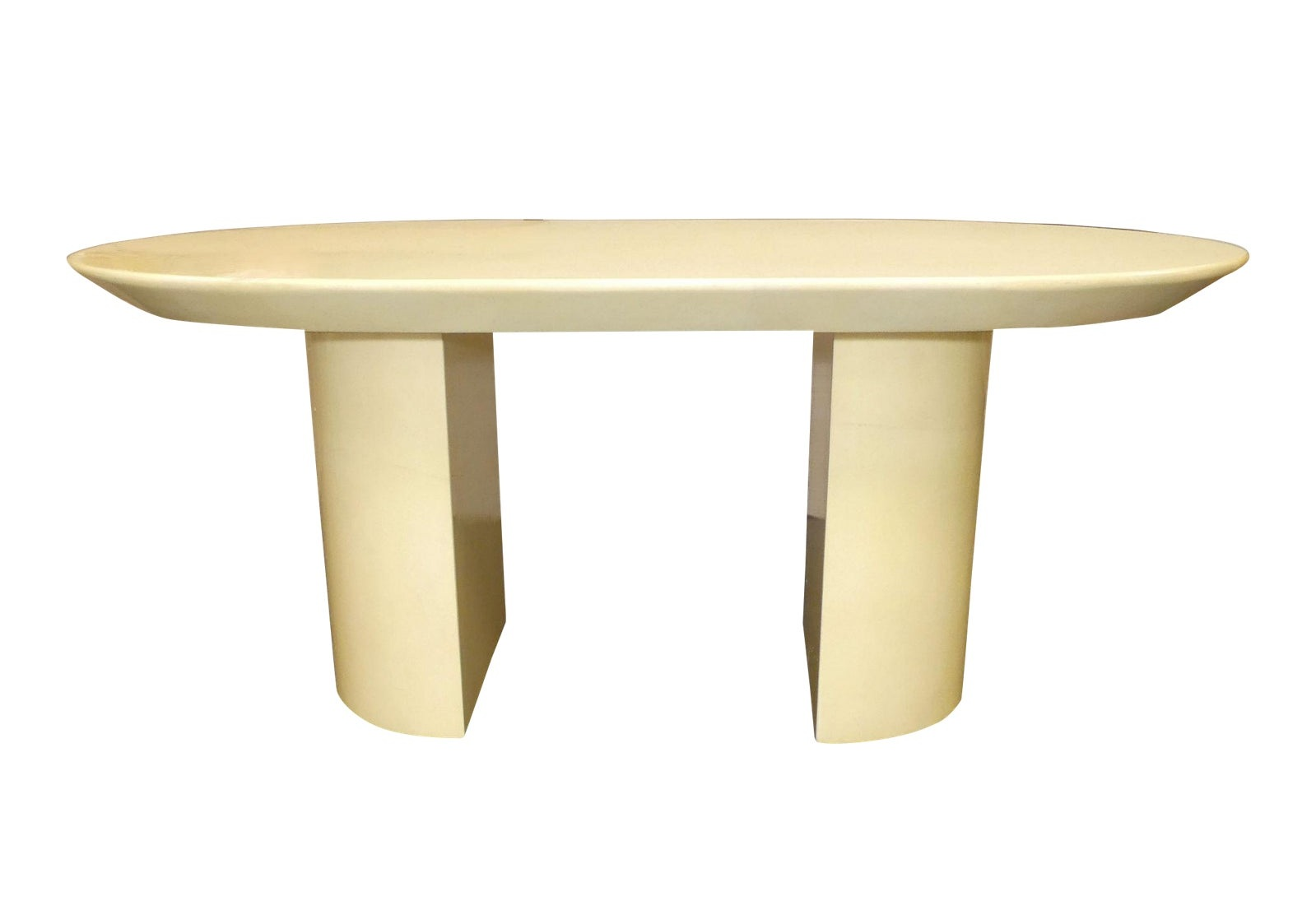 JIMECO LTDA Oval Goatskin Dining Table or Desk Made in Colombia