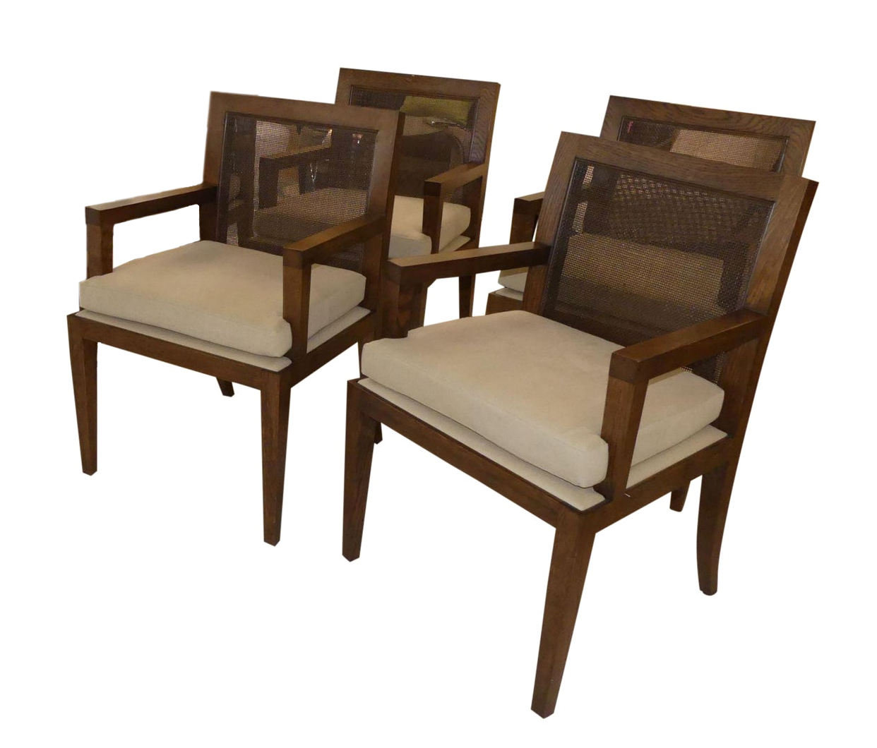ON HOLD Set of 4 Baker Barbara Barry Caned Back Dining Chairs