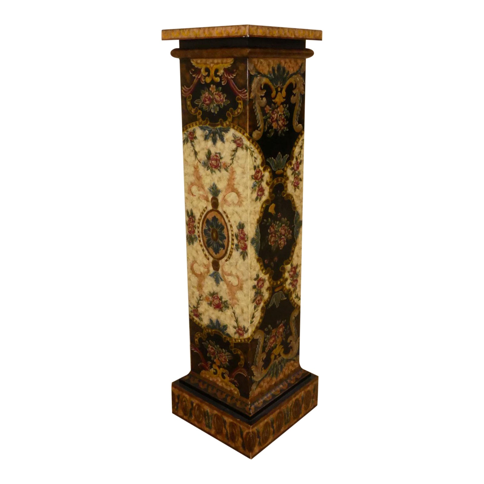 Maitland Smith Paint Decorated Pedestal