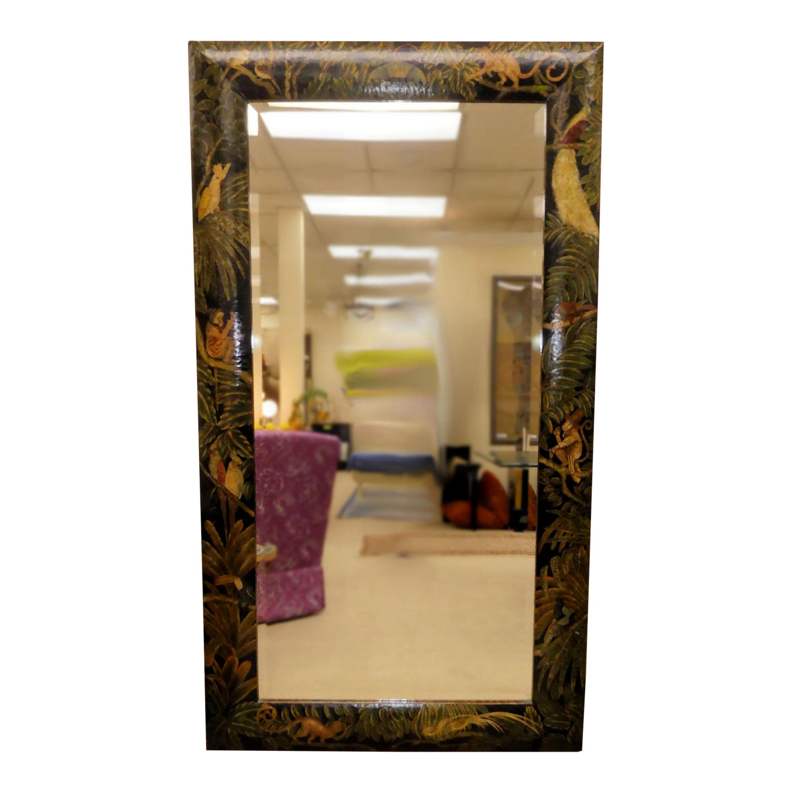 SOLD Maitland Smith West Indies Floor Length Mirror