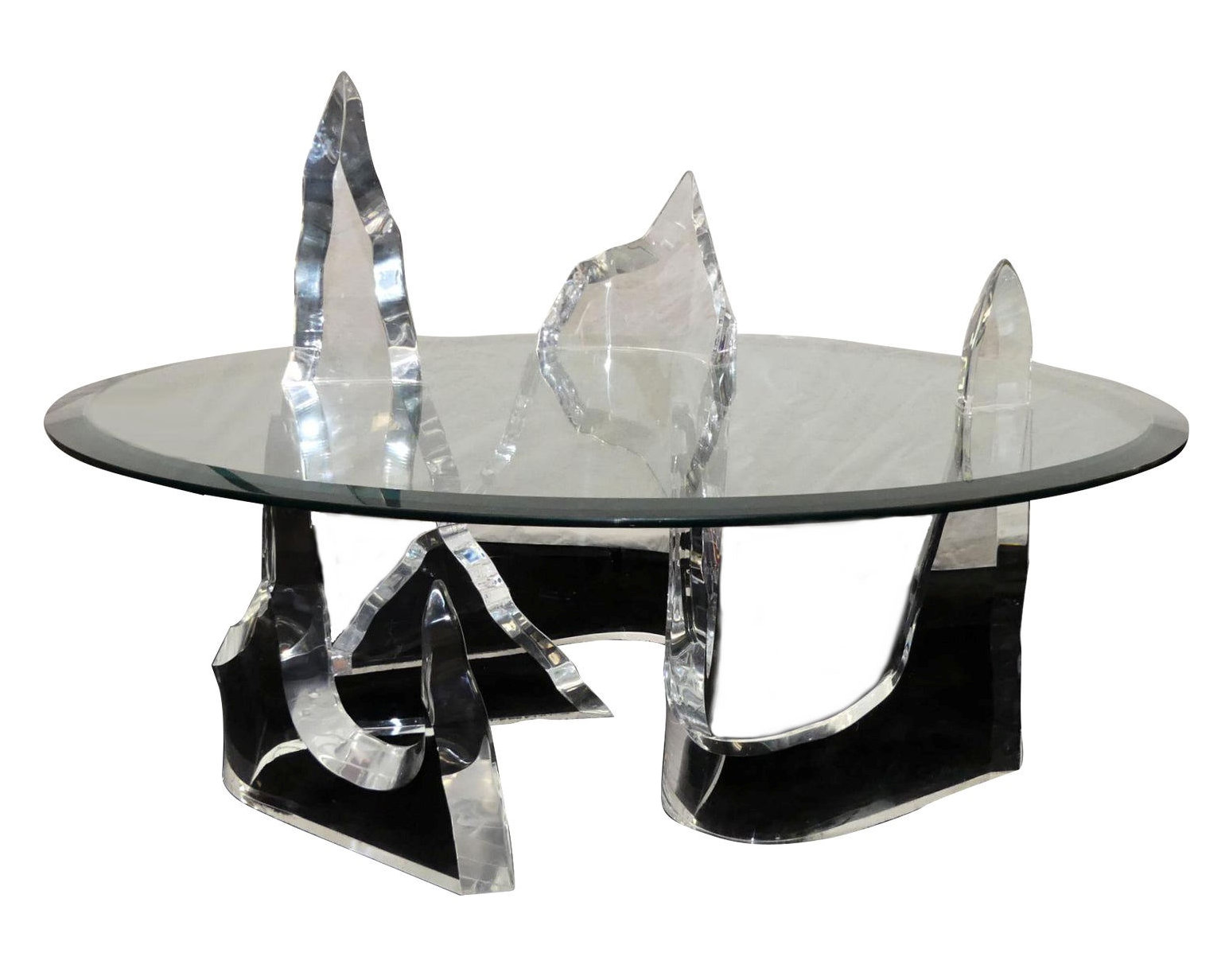 SOLD Signed Lion in Frost Iceberg Coffee Table