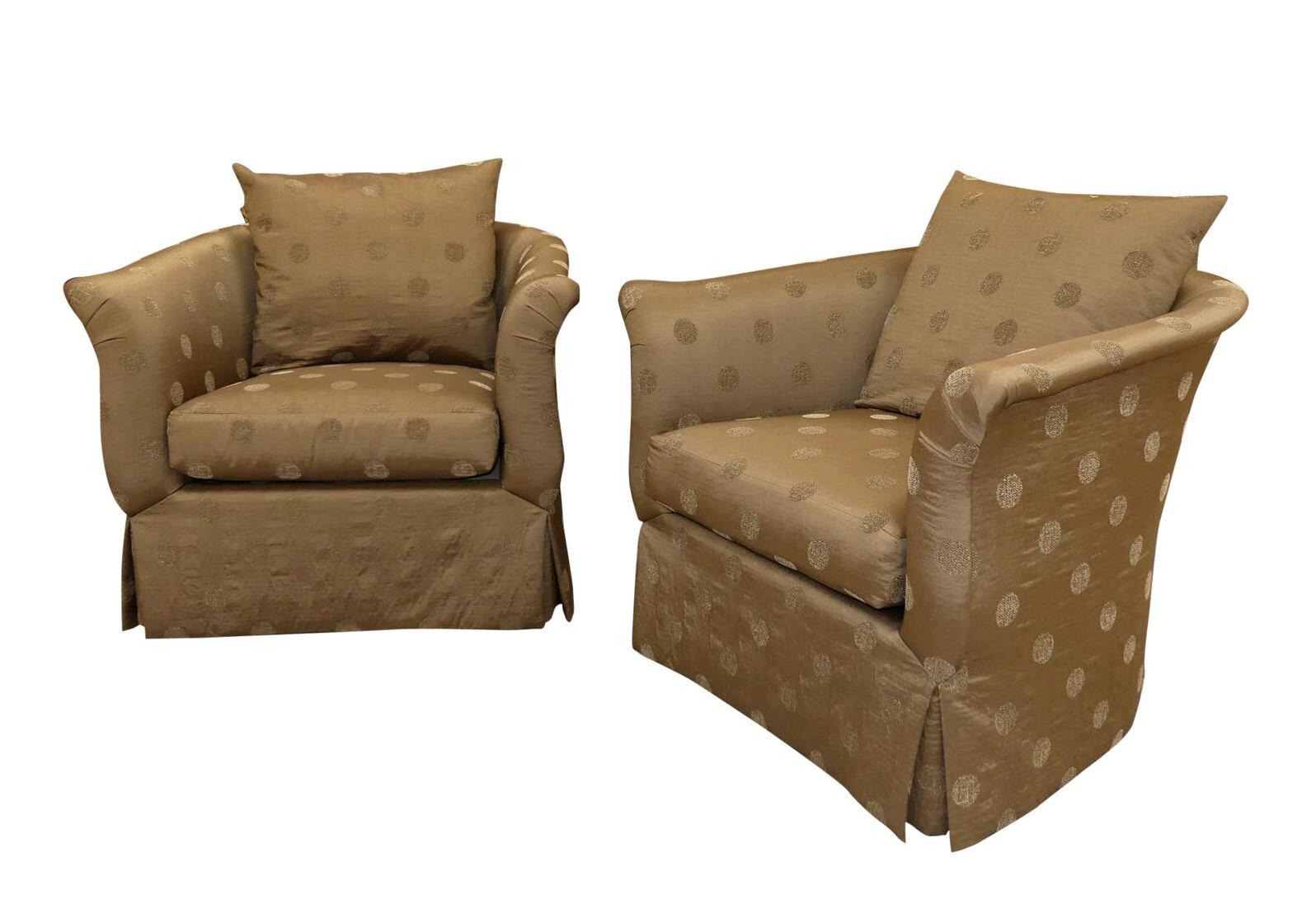 Pair of 2 SWAIM Classics Terra Swivel Chairs