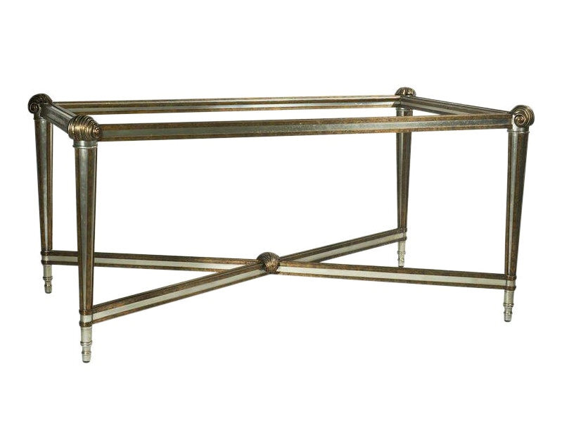 LaBarge Steel & Brass Coffee Table