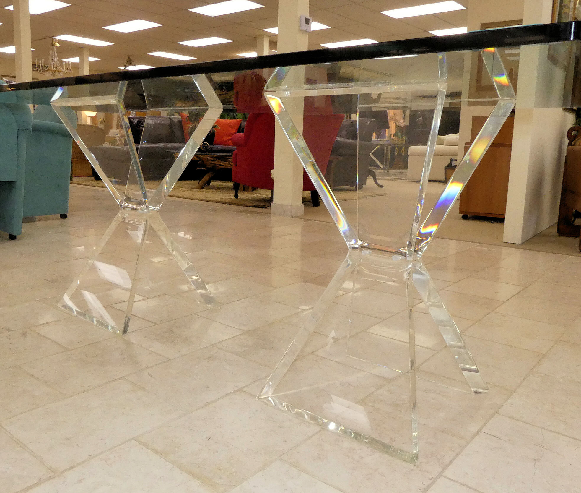 SOLD Pair of Mid-Century Verano Lucite Table Bases
