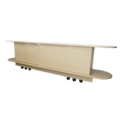 Mid-Century Lacquered Console on Wheels