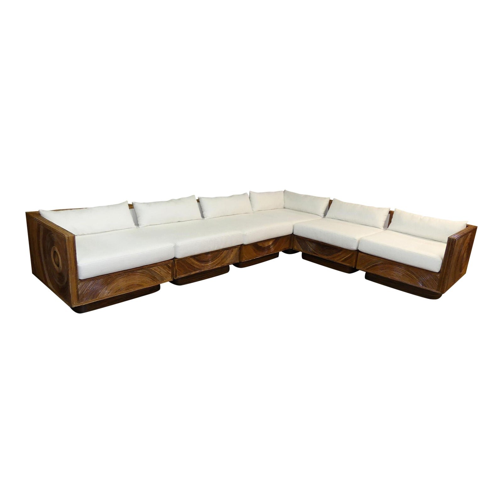 Mid-Century Pencil Reed Modular Sectional