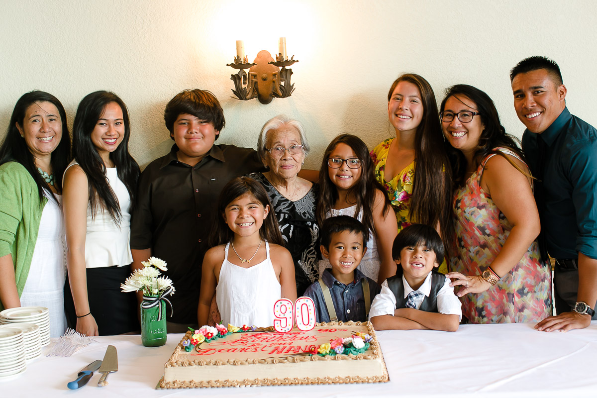 Birthday Party Event Photography, Nanay's 90th Birthday Celebration, Great-Grandchildren, Grandchildren, Family