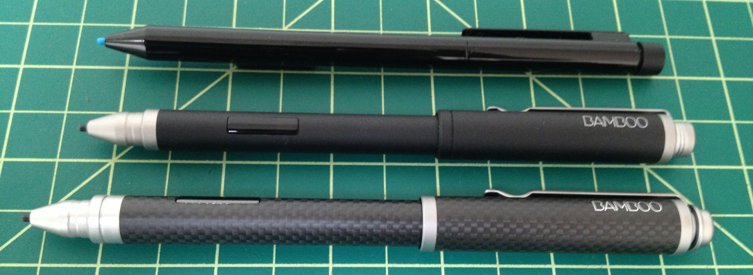 The Bamboo Stylus feel - Carbon is significantly larger than the standard pen and its Black cousin.