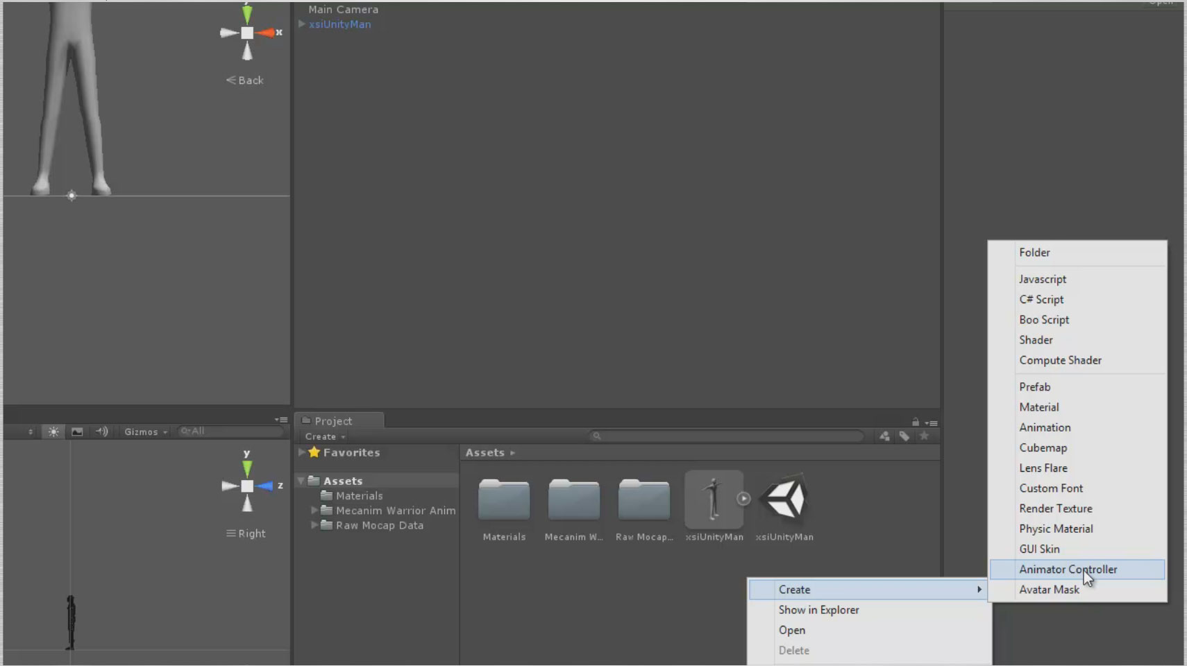 Create a new animation controller