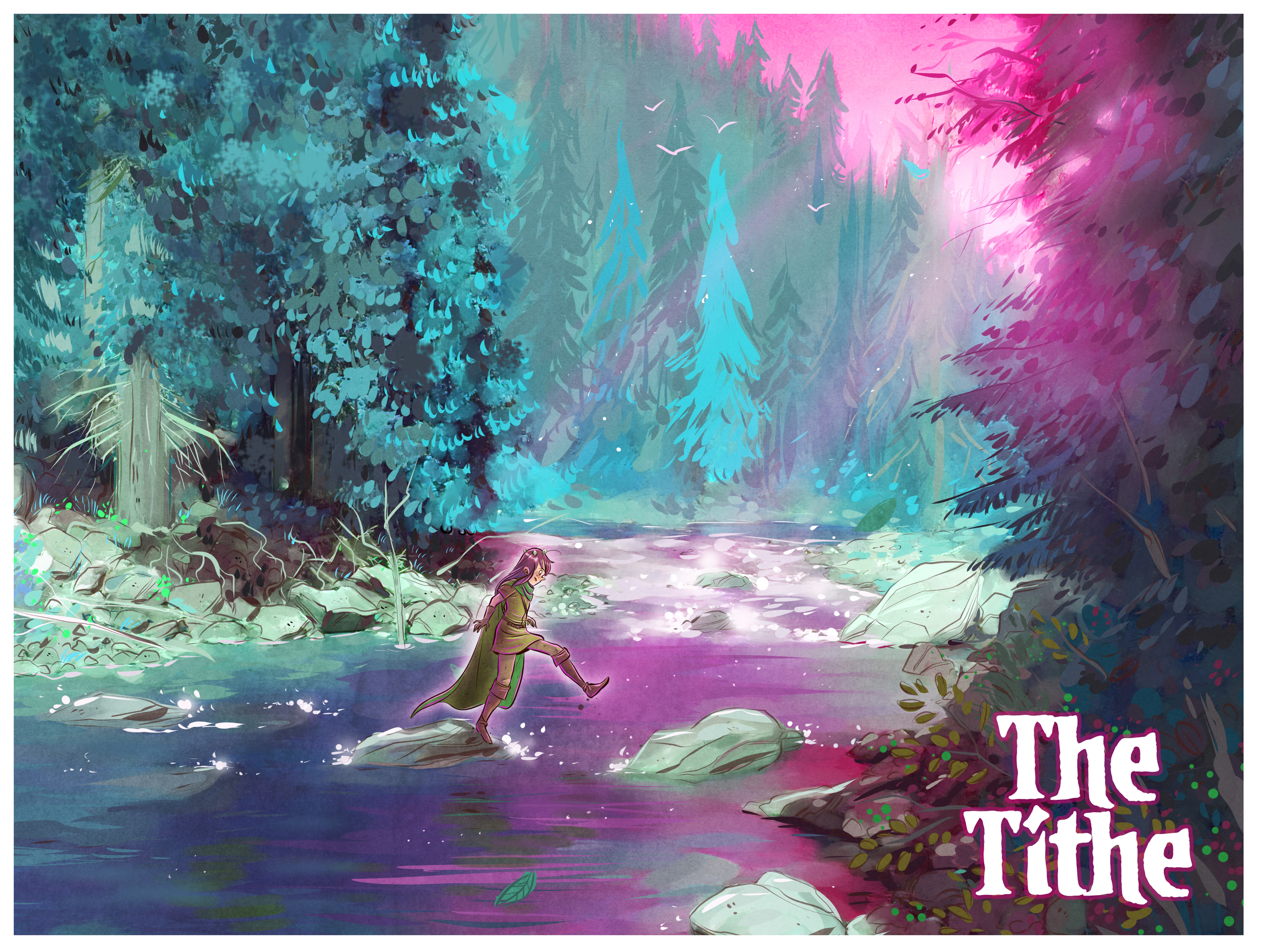 Beautiful image from Gabe's web comic  The Tithe,  which the artist writes was mostly produced on the Surface Pro.