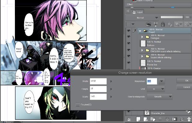 Changing screen resolution in Manga Studio/Clip Studio Paint