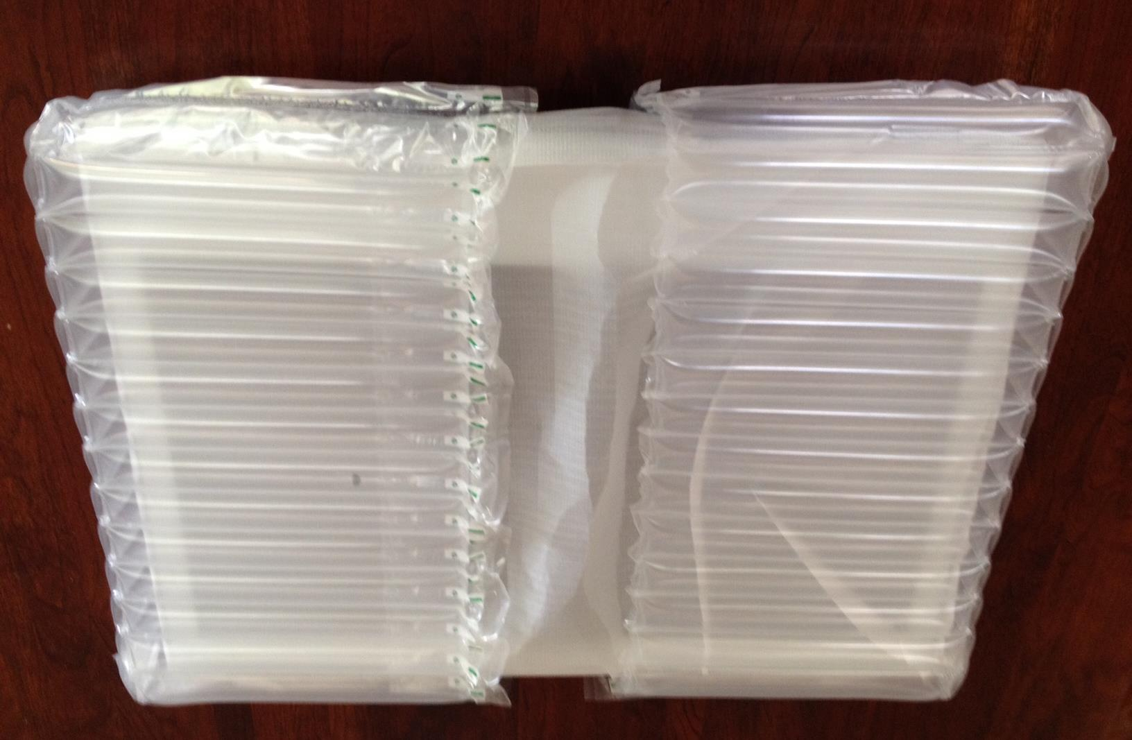 Packaging material is clean and compact, much preferable to styrofoam.