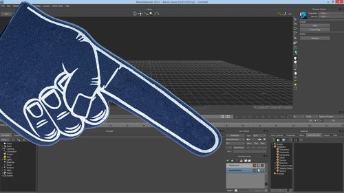 3d App UIs on the Surface Pro get the (foam) finger