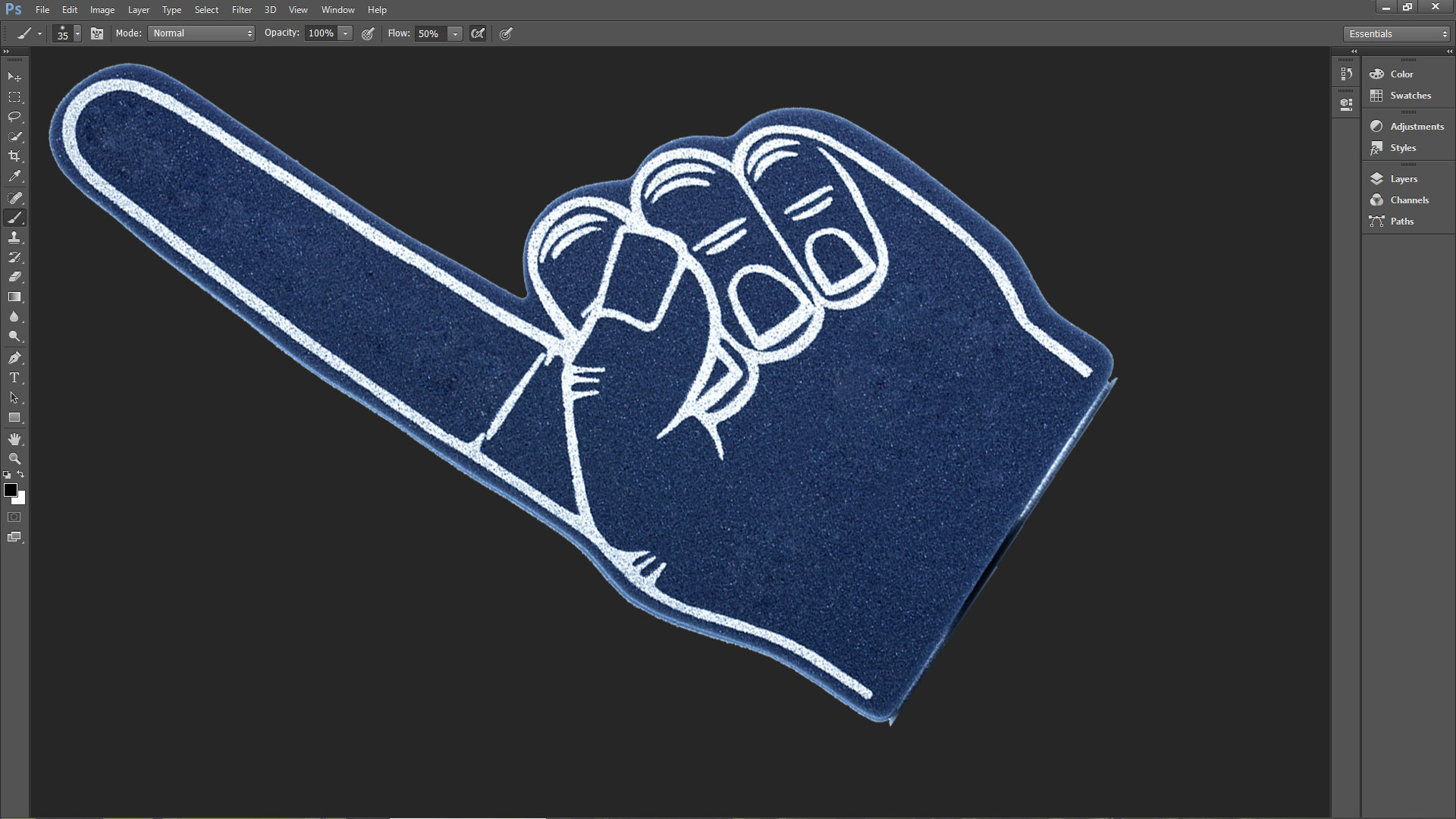 Adobe's microscopic UIs flunk the patented Surface Pro Artist fan finger test.