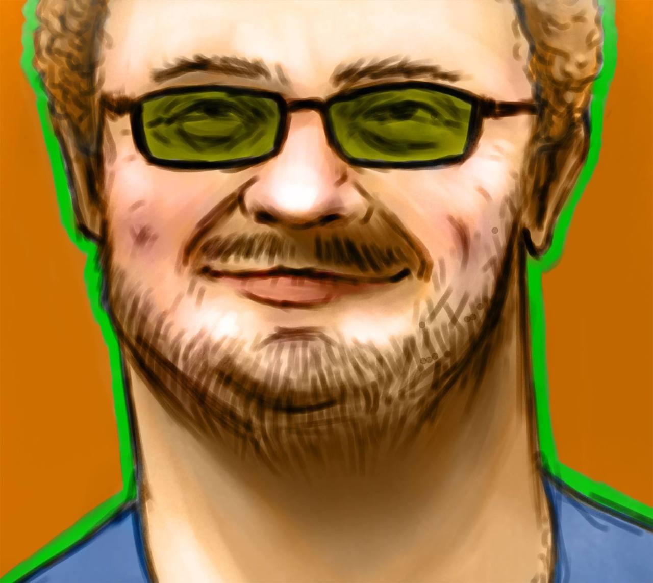 Self portrait by Austin Balaich. Follow him ataustinbalaich.tumblr.com.