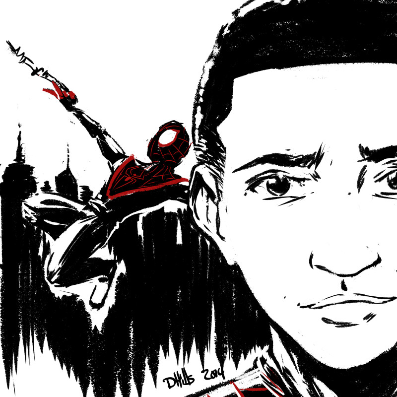 Another warm-up sketch. I had never drawn Miles Morales before, so I thought I'd take a shot at him.