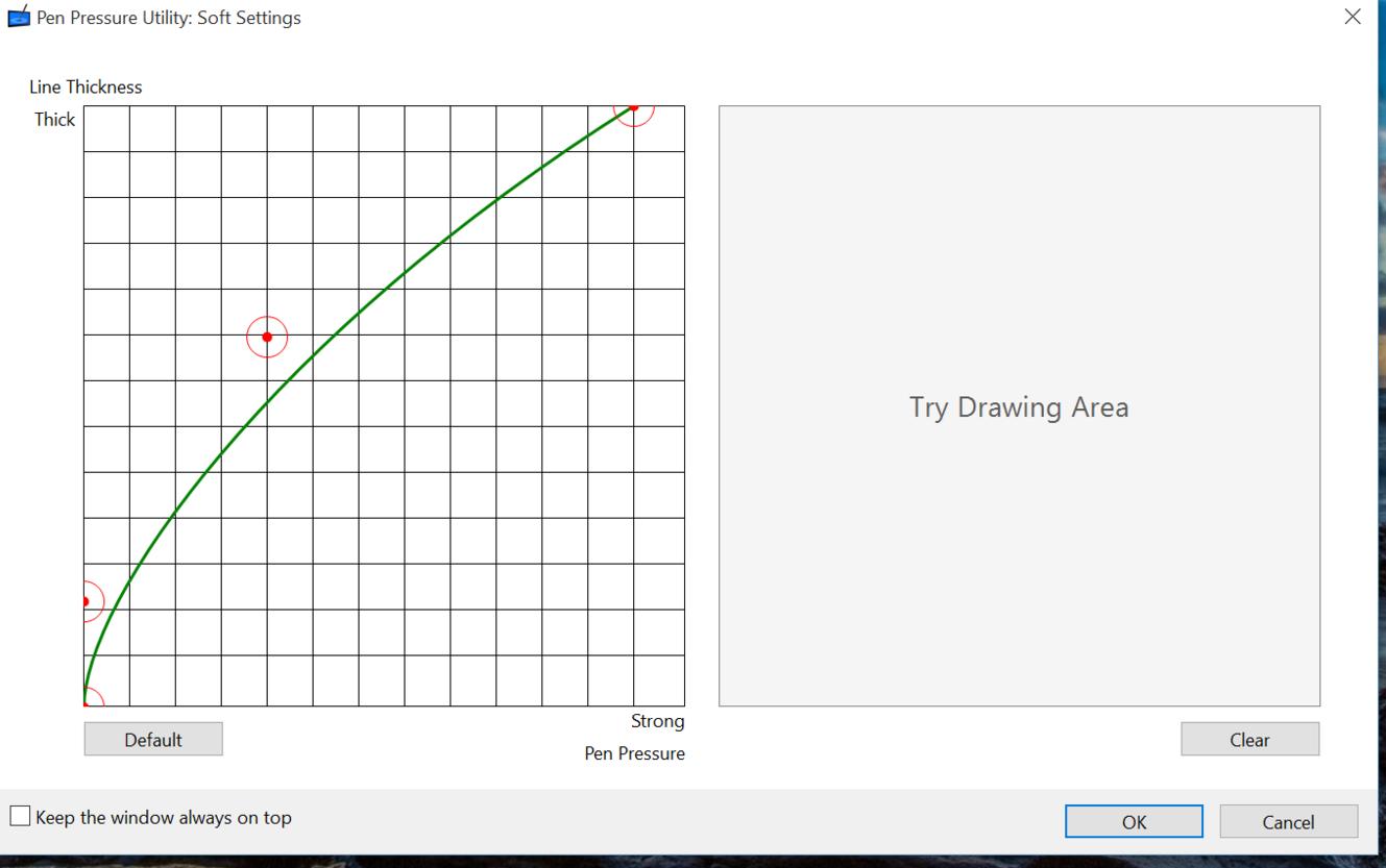 Soft pressure curve