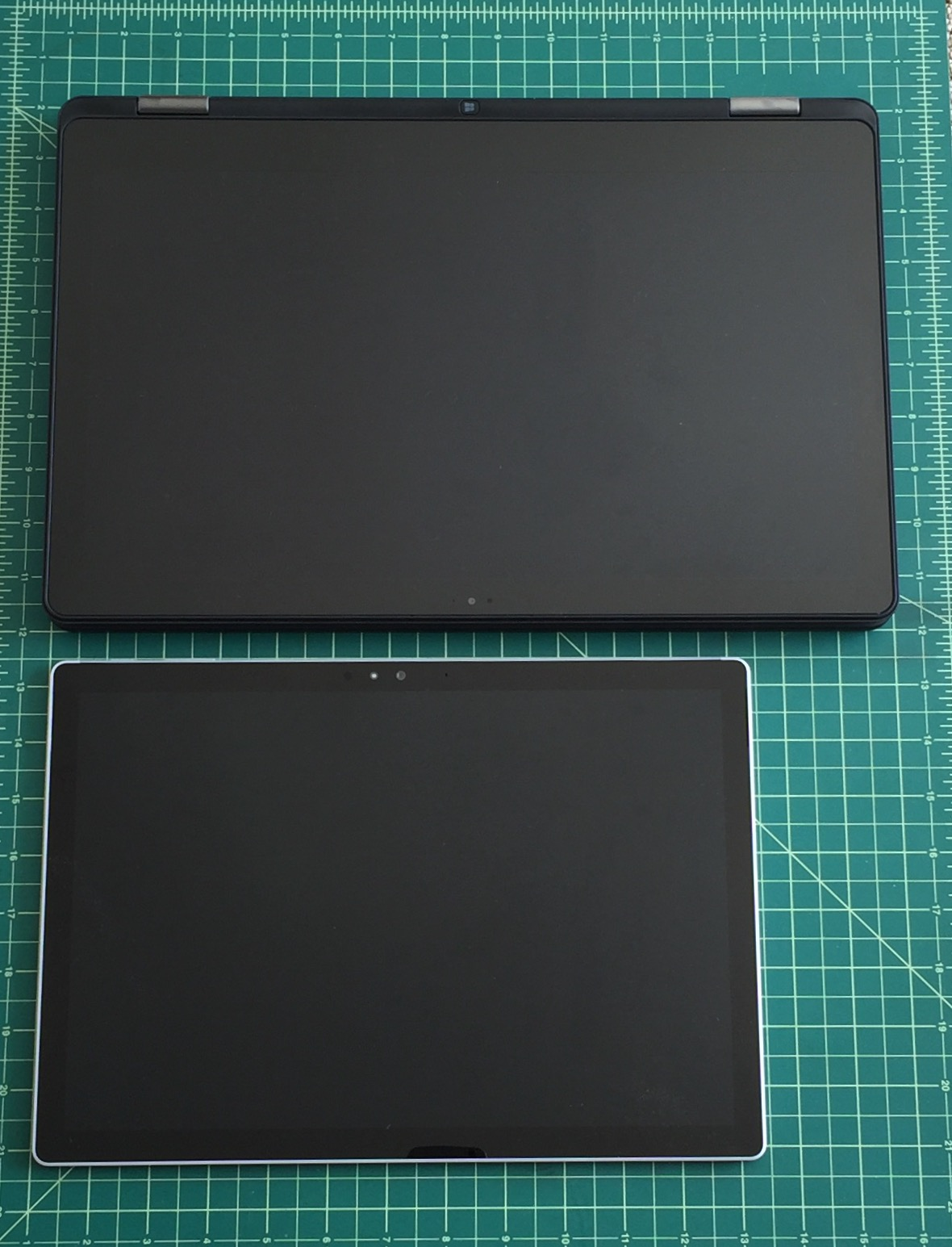 The Surface Book's 13.3 inch Clipboard (above, bottom) looks positively tiny by comparison.