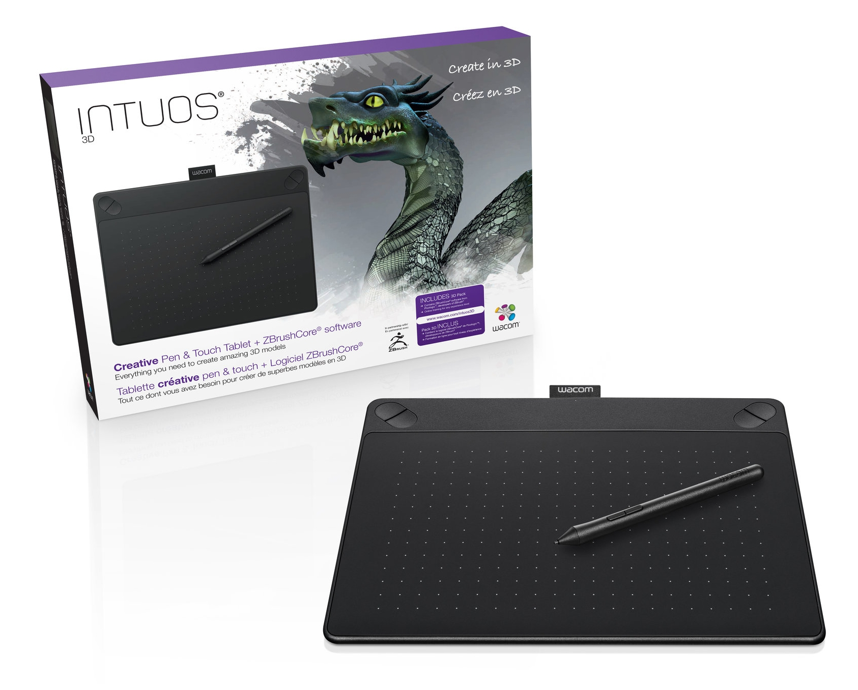 New Intuos 3D tablet bundles ZBrushCore — Surface Pro Artist
