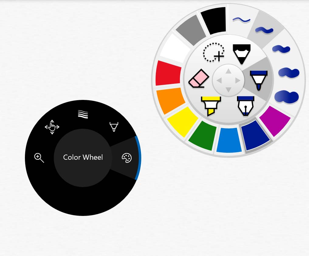 Plumbago's wheel UI is already efficient and the Dial controls are redundant.