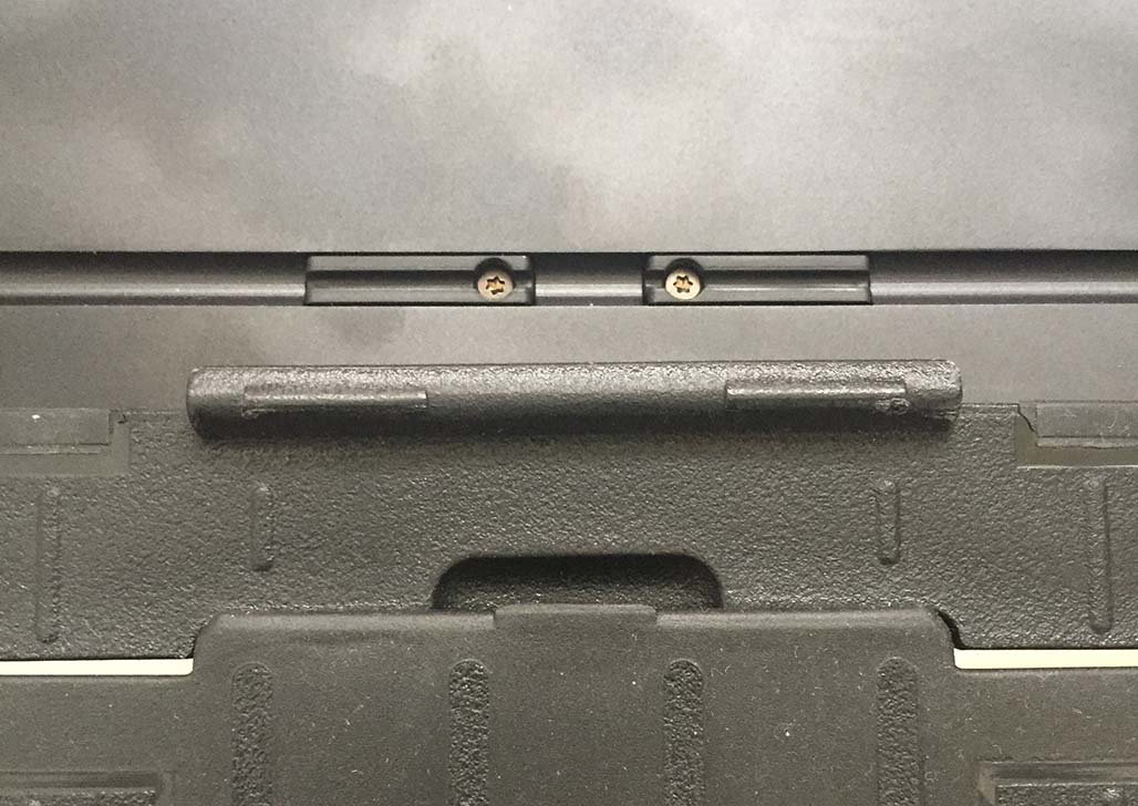 Stand slots in the back of the MSP have hardware that obstructs the CC2 stand's tabs.