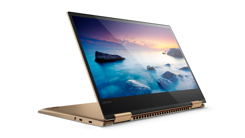 Windows® 10 convertible laptops Lenovo Yoga 720 in Copper