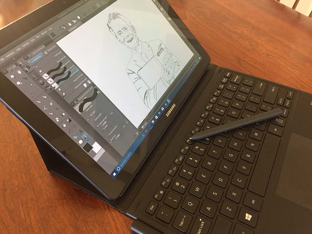The Samsung Galaxy Book with S-Pen (Wacom EMR) offers the best portable pen experience in a Windows 10 device.