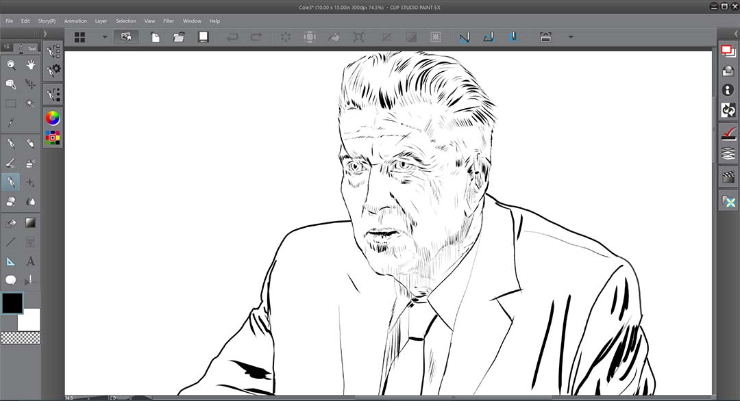 All the strokes in this image were created with the same size brush. Variations were all created with pen pressure.