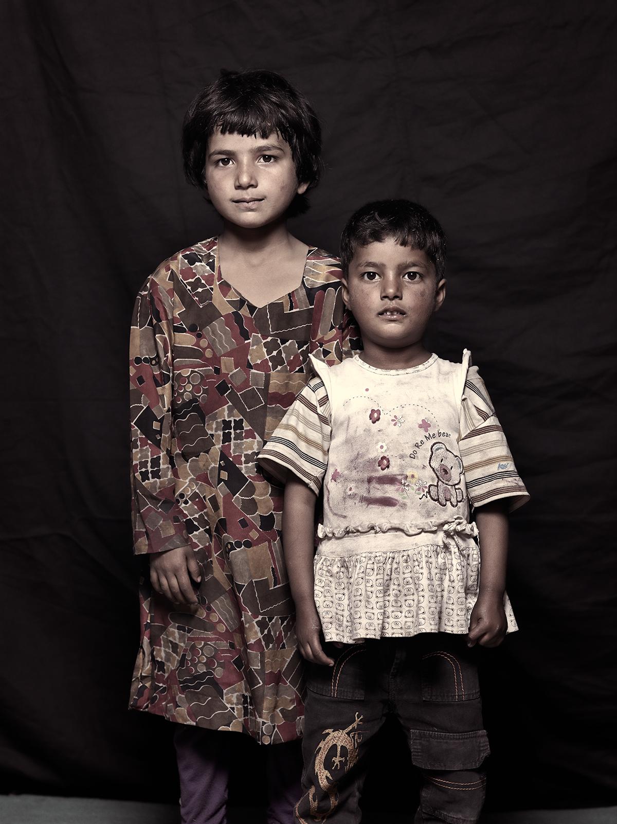 Mushkan Shah, 5 and Shamina Shah, 4, D-camp, 2013