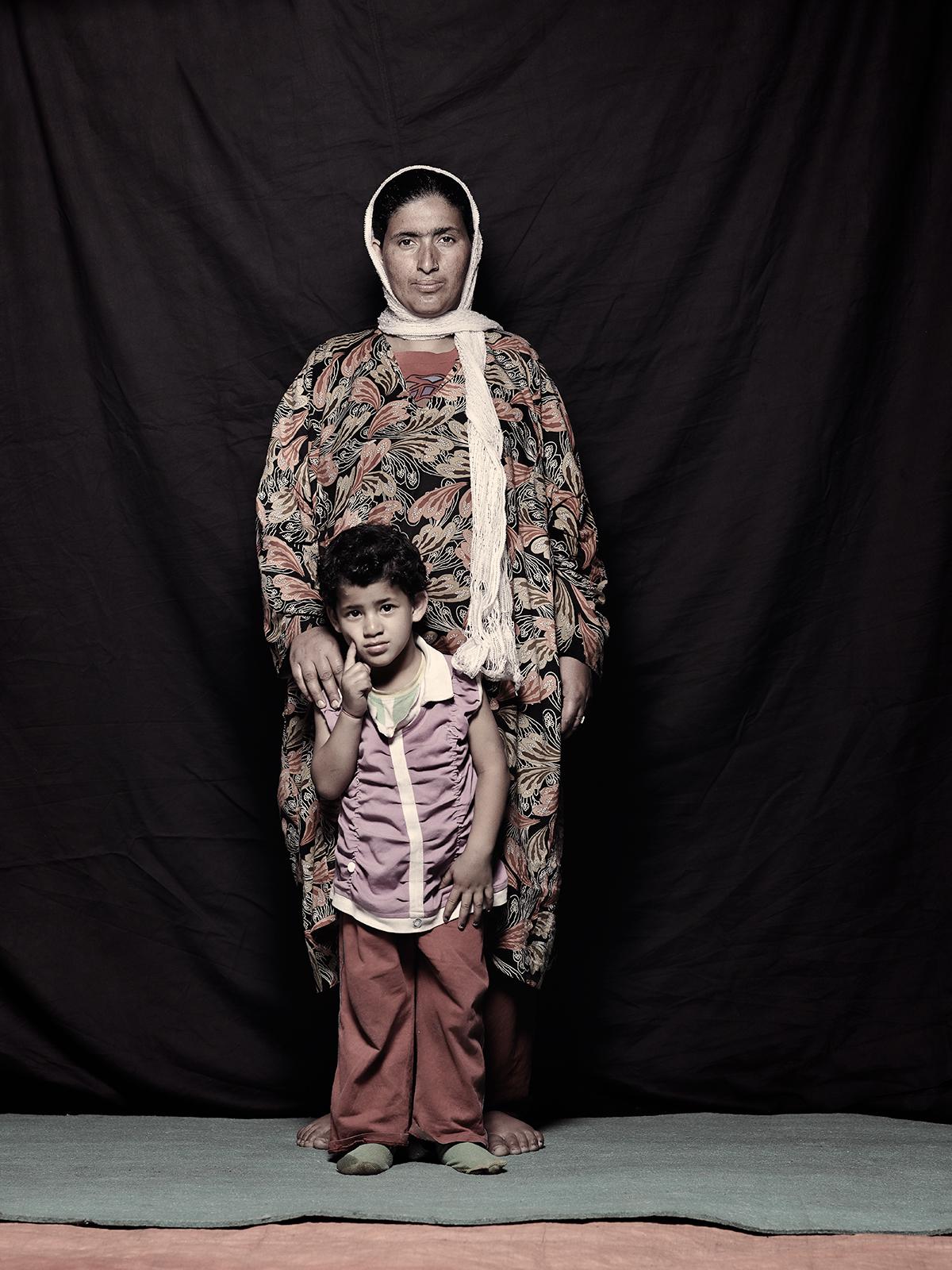 Shaheen Bilal, 27 and Surya Bilal, 4, D-camp, 2013