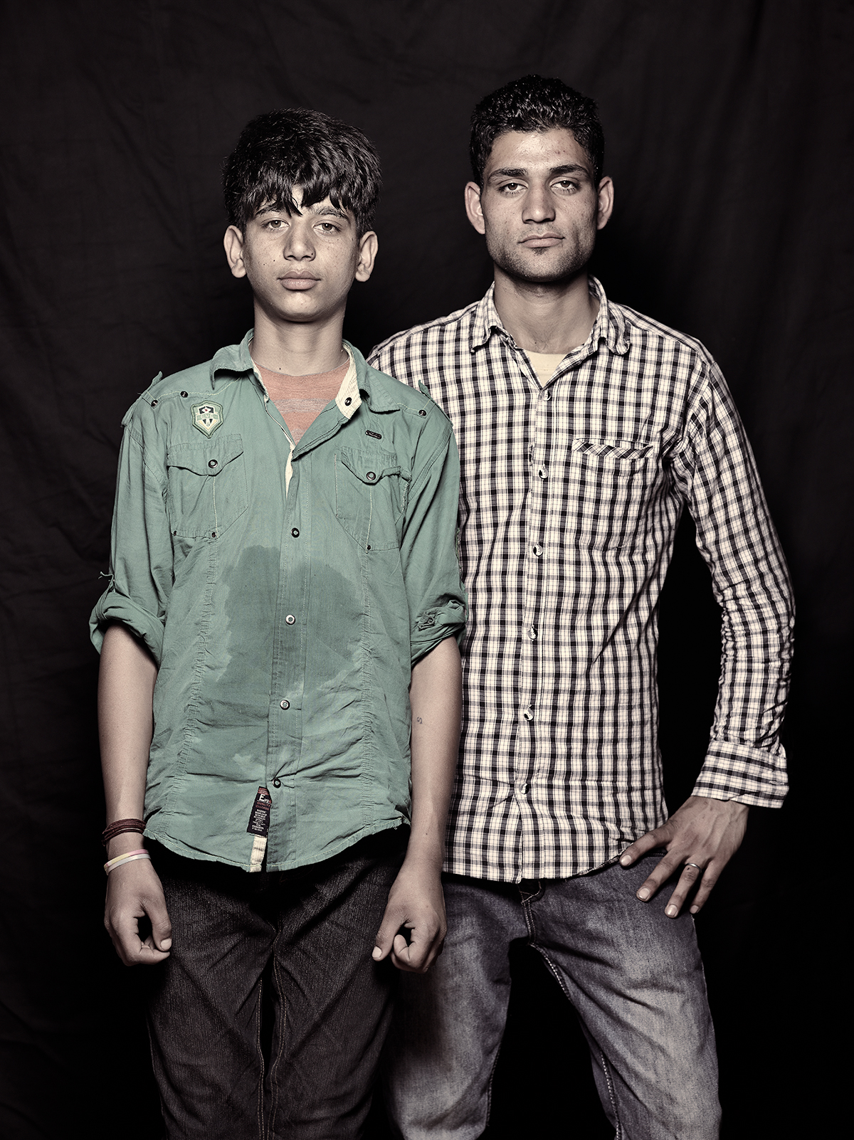 Omar Shah, 14 and Sunil Bhutt, 21, D-camp, 2013