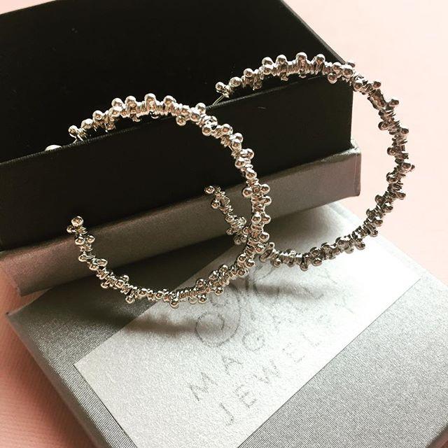 Hoop season is here! #magallyjewelry #hoop #earrings #silver #love #handmade #jewelry #designerjewelry #instajewelry #jewelrygram @lacdcm