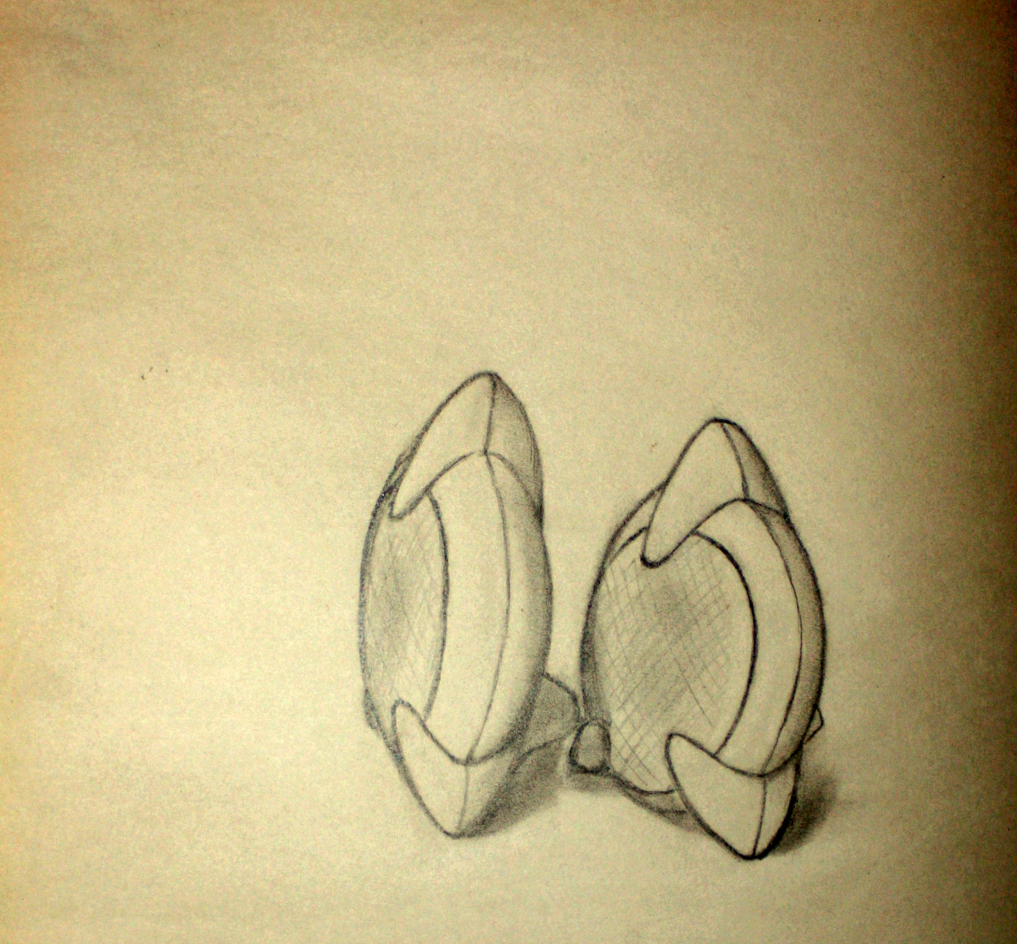 """Two Speakers (2007)  Pencil on Newsprint  (24""""X18"""")"""