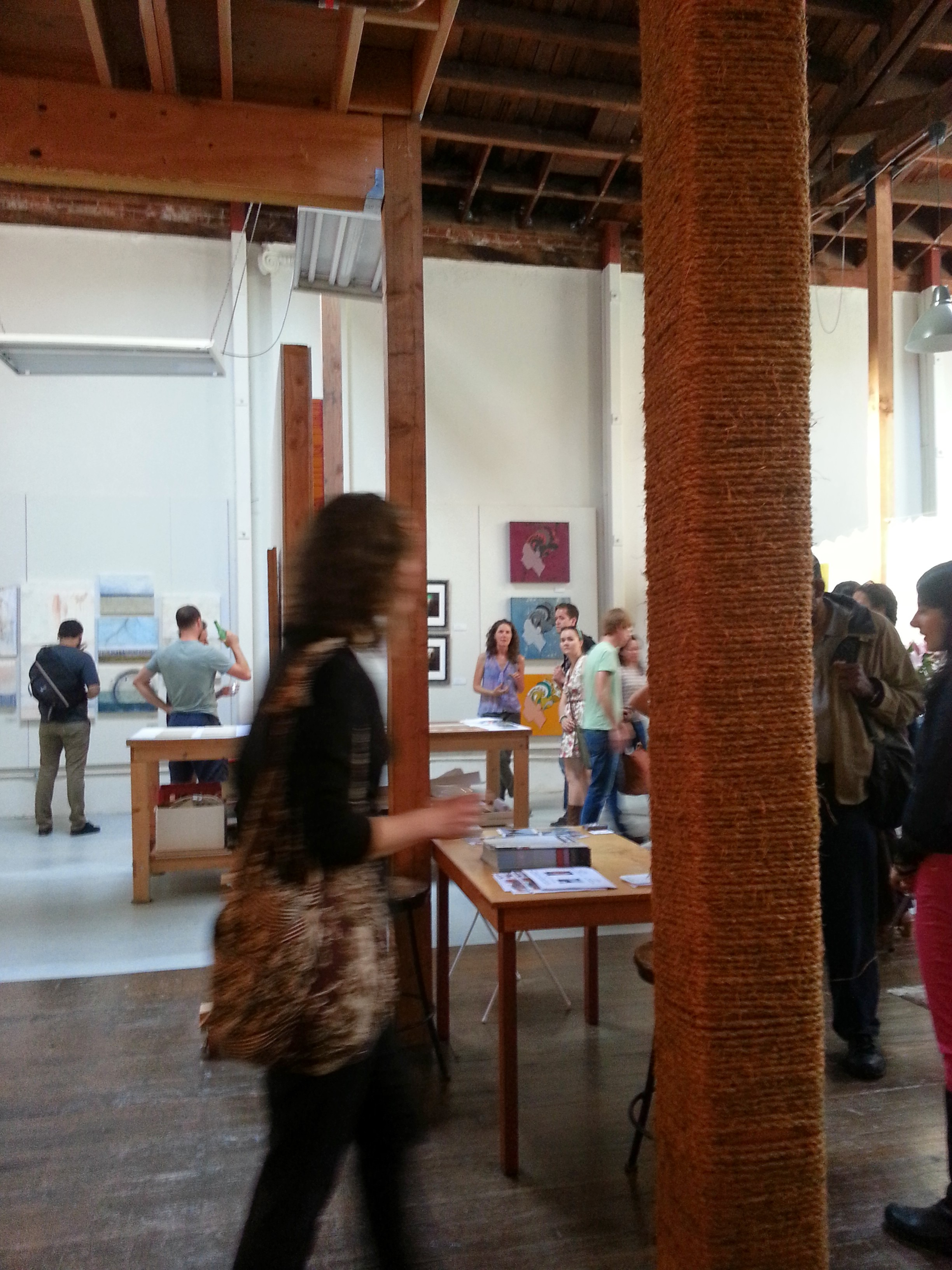 Guests at our 5 person open studio in Oakland