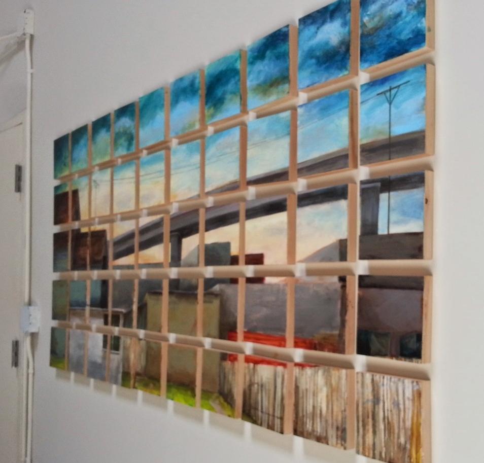 Laurel Cain' urban lanscape paintings