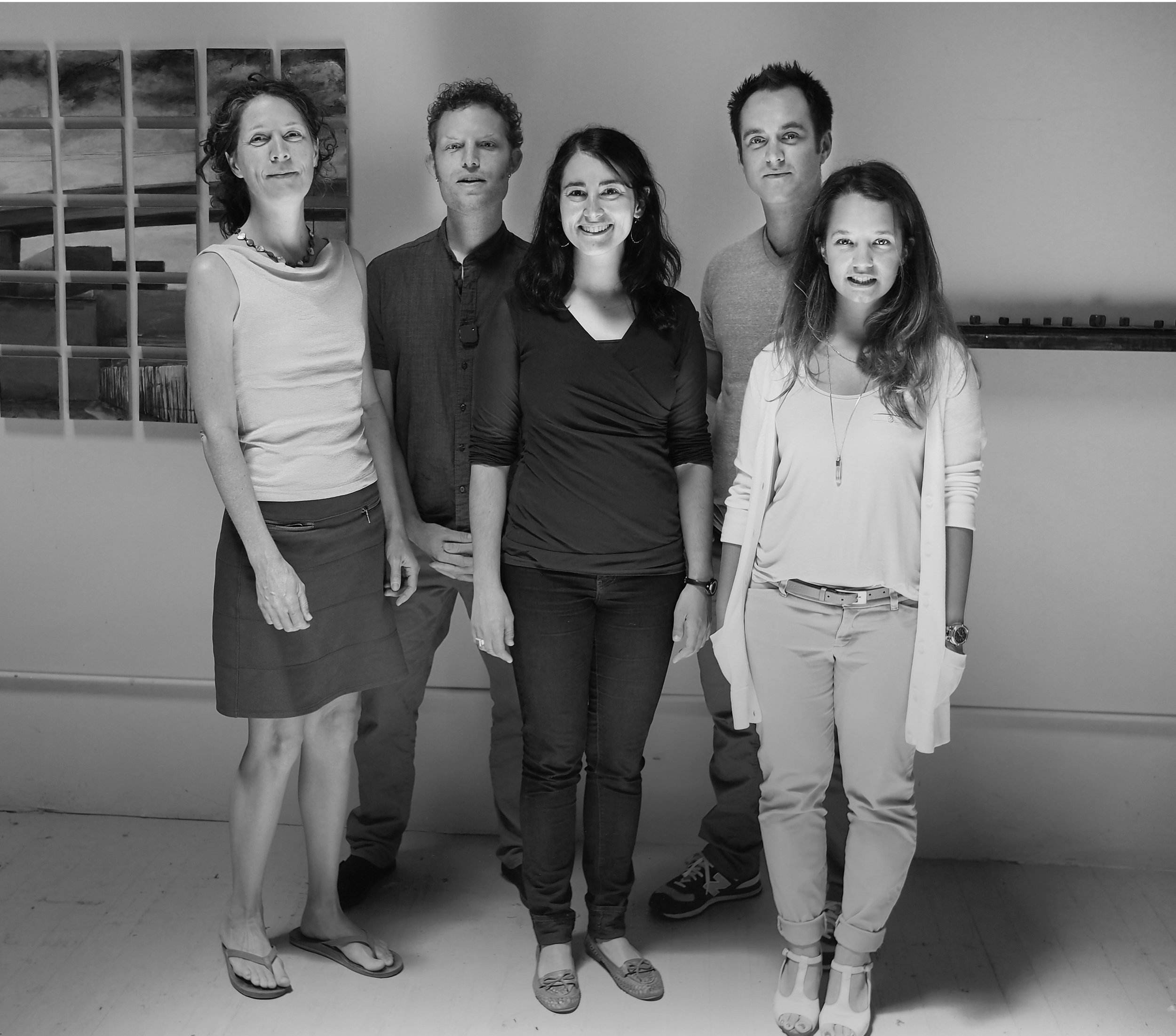 The gang at our shared open studio, 2014, photo courtesy of Dan Tennery-Spalding.
