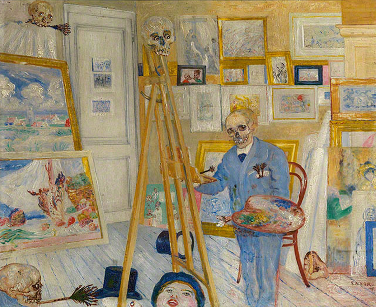 The Skeleton Painter , James Ensor