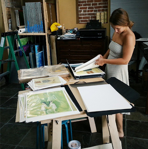 Sorting and packaging lots of prints (photo courtesy Paul Szymanski @ ForesakingForever.com)