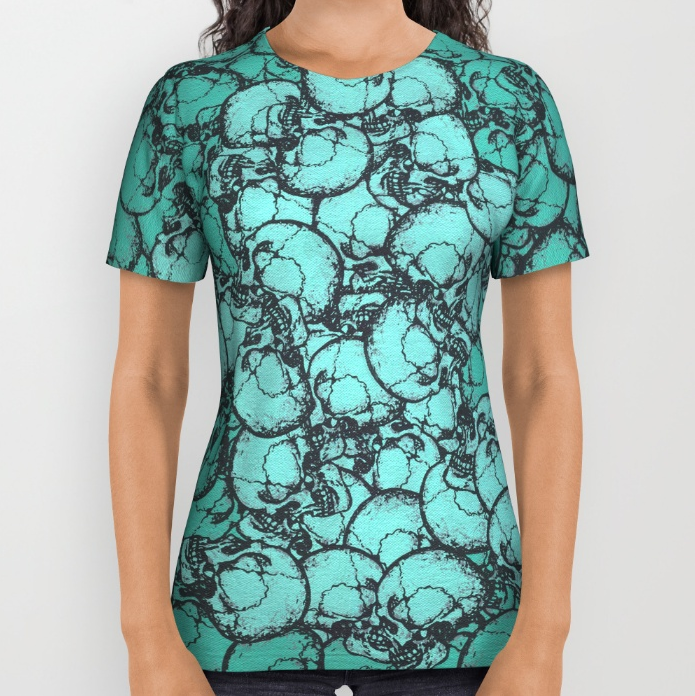 The Shape of Goneness  all-over print shirt by SickSweet.  These premium quality American Apparel all over print shirts feature original art from seam to seam. The cotton-soft 100% polyester wicks moisture and maintains a rich color throughout. All over print tees are unisex fit, so women should make size selections accordingly and order a minimum of one size smaller. Please Note: Every shirt is uniquely produced using a sublimation process that can create anomalies in some areas, typically under the arm, that leaves small portions of fabric white. B uy it  here .