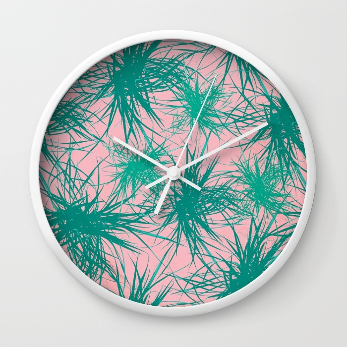 dragon-plant-pattern-pink-variation-wall-clocks.jpg