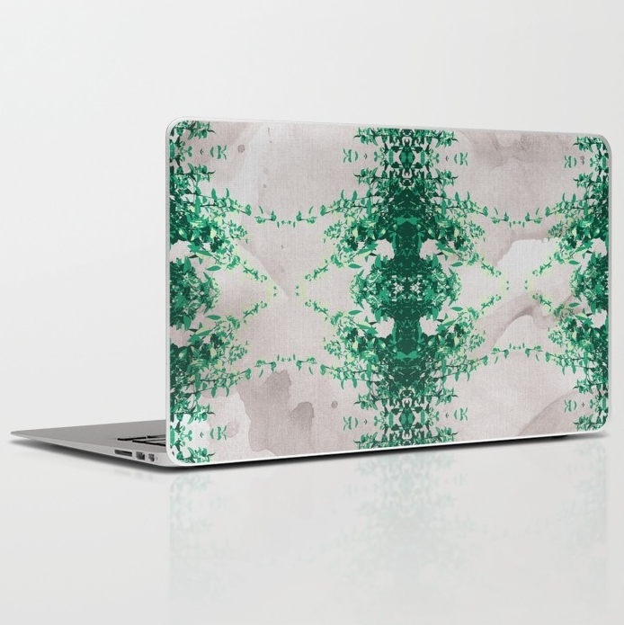 Hot Mint   Grey Water Laptop   iPad Skin by SickSweet   Society62.png
