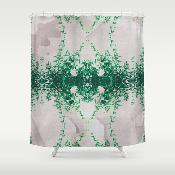 Hot Mint   Grey Water Shower Curtain by SickSweet   Society6.png