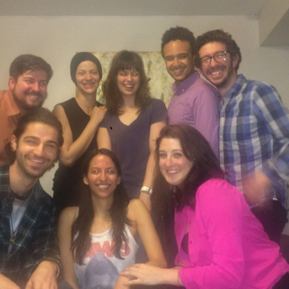 Group shot of the cast (minus 1 of our yoga instructors) with our Director, Writer, AD & DP from our pilot reading today.