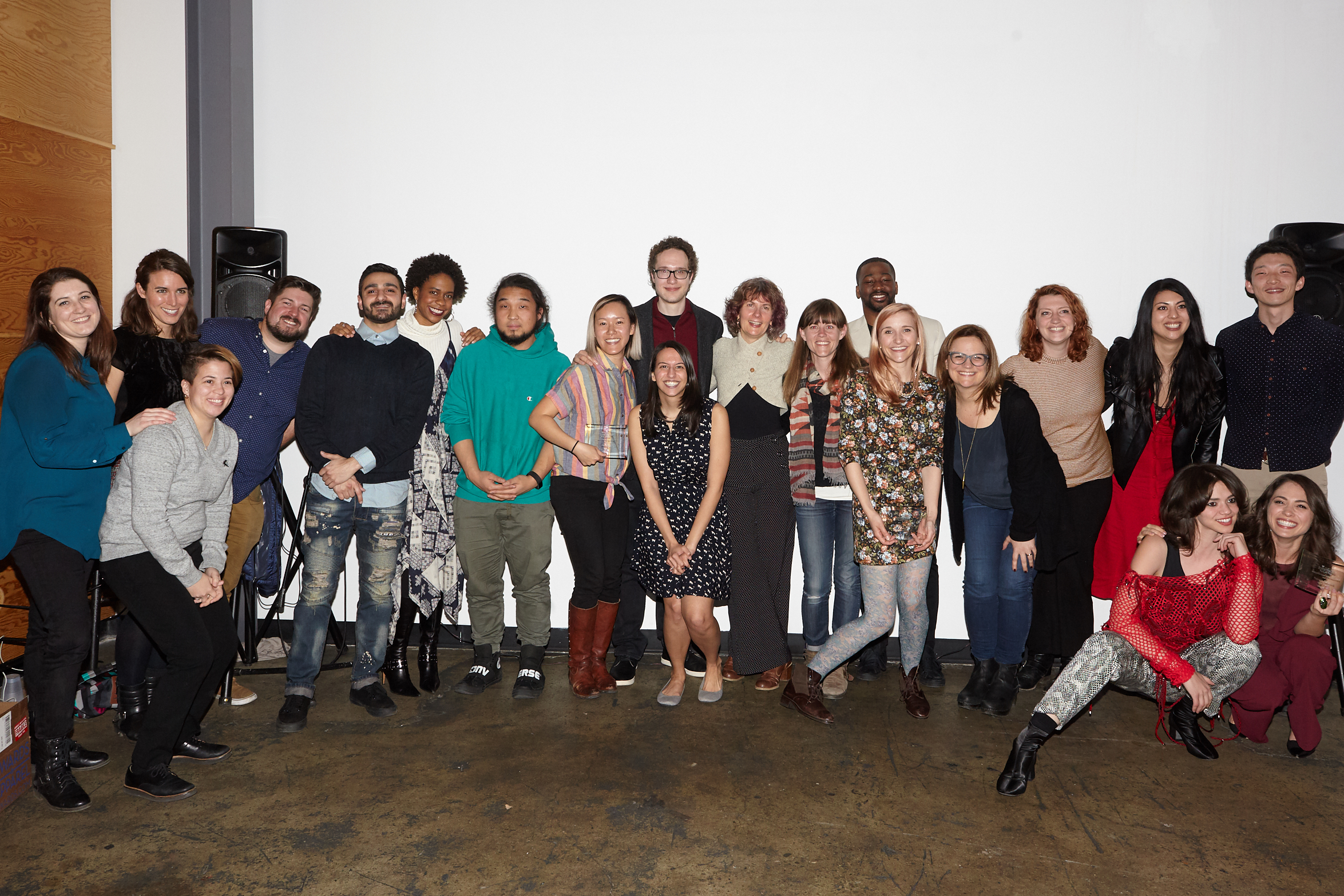 Our team with all the talented filmmakers of the night!