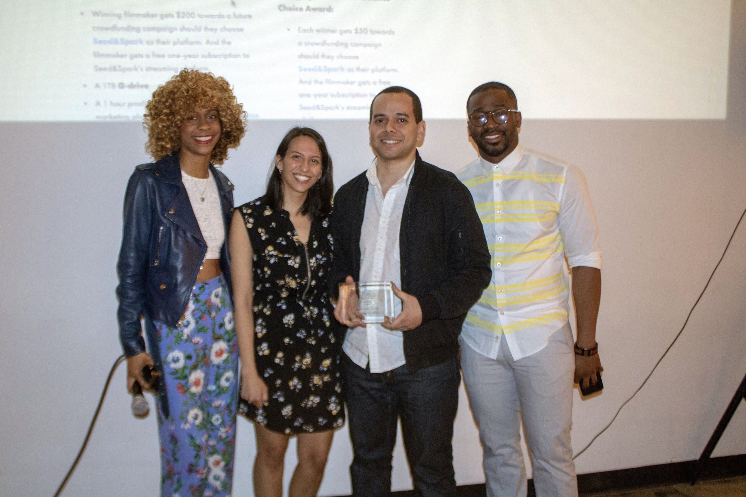 """BEST EDITING : """" Goodbye Old Friend""""  ( Rafael De Leon Jr ) - Wins $50 towards a  Seed&Spark  campaign, a free one-year subscription to Seed&Spark's streaming platform, and script coverage from the CongestedCat team of one future short screenplay."""