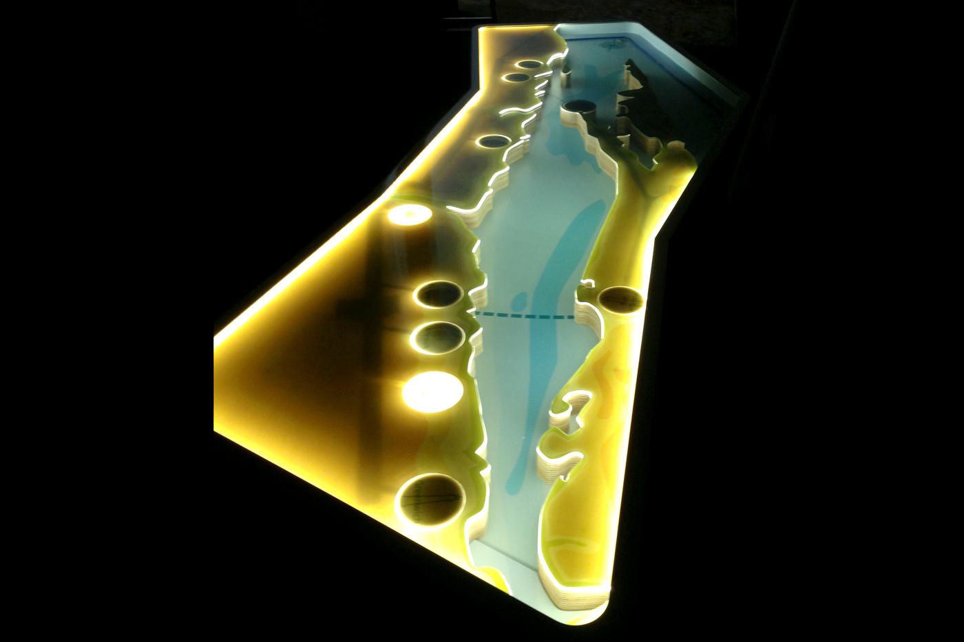 Illuminated table