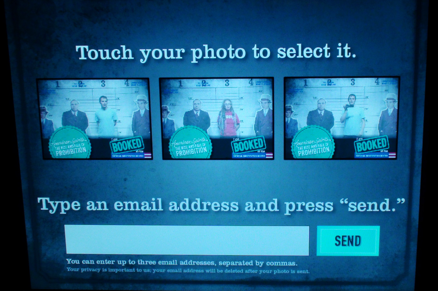 photo selection interface
