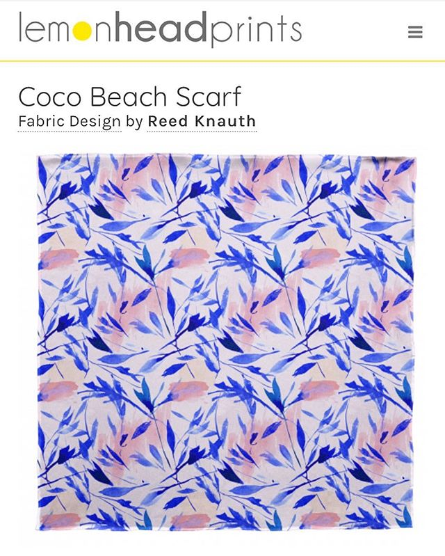 ⚡️YAS⚡️so fun to to see my boho prints available for sale on @lemonheadprints🍋 🏝// Coco Beach Scarf @lhp_creativecommunity #textiledesign