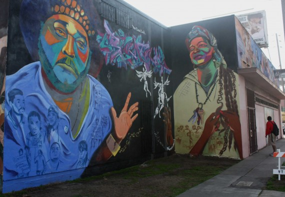 Murals at the Southern California Library. Source: laactivist.com